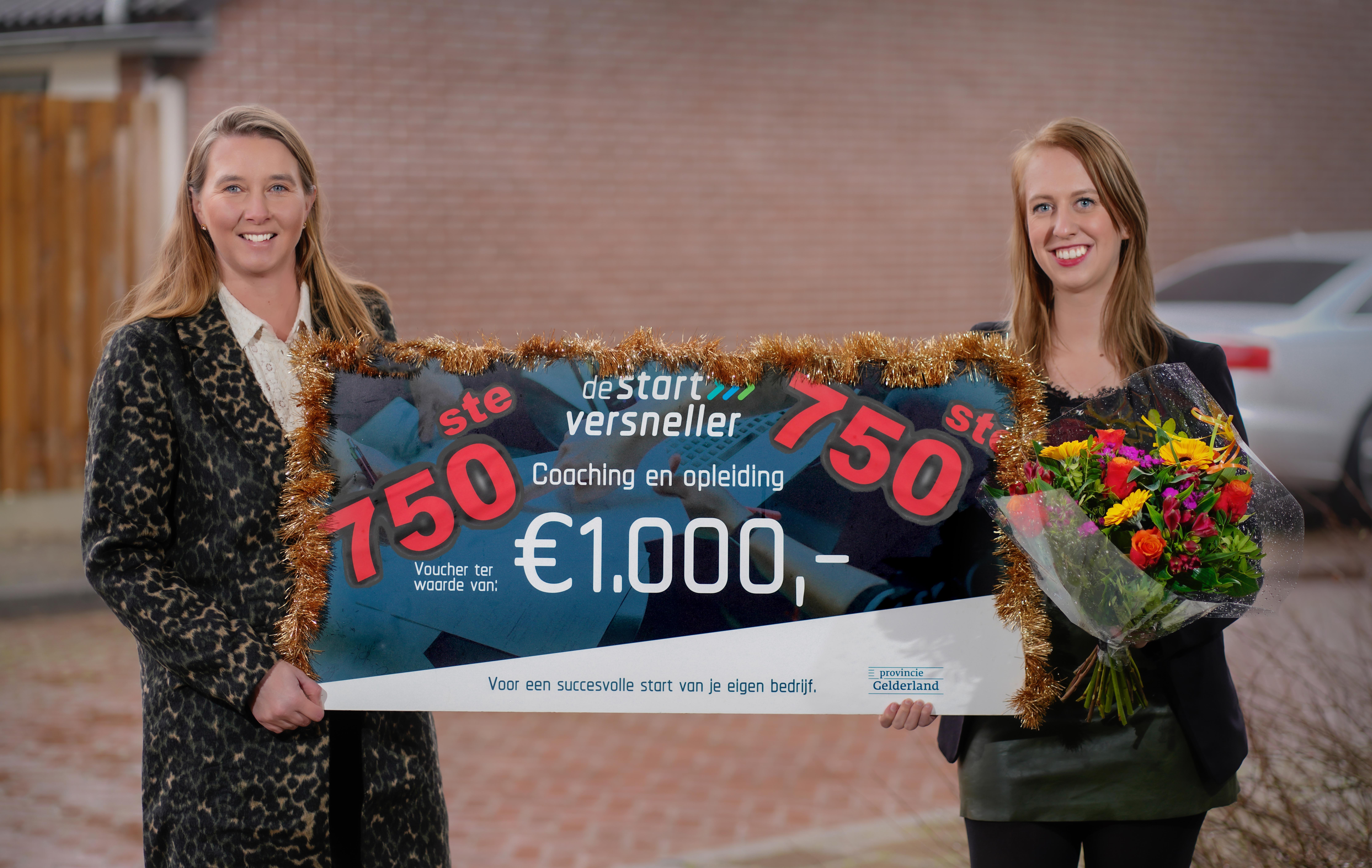 750e voucher De Startversneller uitgereikt