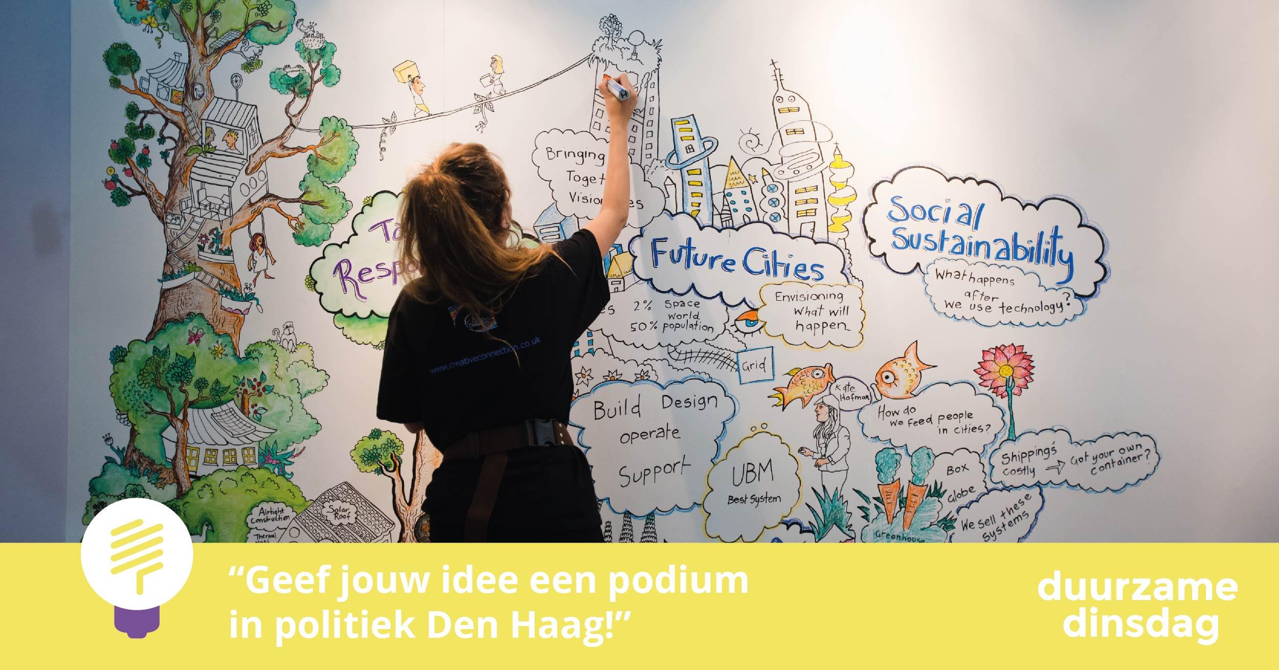 Geef jouw idee een podium in politiek Den Haag